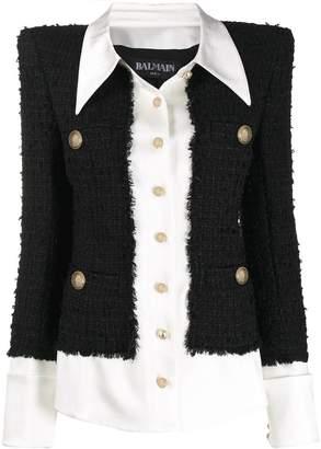 Balmain layered effect jacket