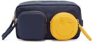 Anya Hindmarch Chubby Wink Make Up Bag - Womens - Navy Multi