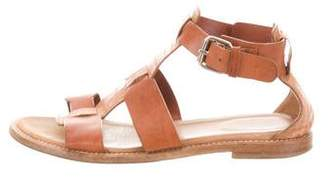 Aquatalia Embossed Leather Sandals