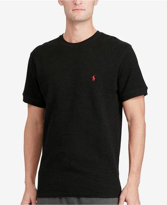 Polo Ralph Lauren Men's Waffle-Knit Thermal Crew-Neck T-Shirt $40 thestylecure.com