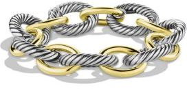 David Yurman Oval Extra-Large Link Bracelet with Gold $2,100 thestylecure.com