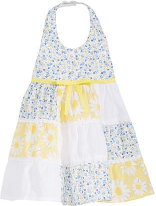Blueberi Boulevard Baby Girls Patchwork Halter Dress