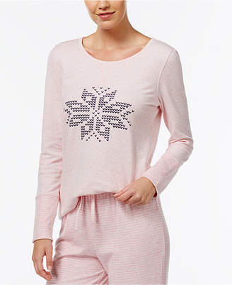Nautica Reversible Snowflake Pajama Top