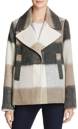 Laundry by Shelli Segal Plaid Swing Coat $240 thestylecure.com