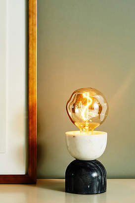 Anthropologie Inverted Marble Table Lamp