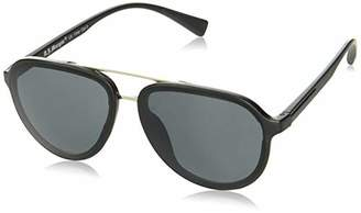 Morgan A.J. Sunglasses Unisex-Adult Platinum 40168-BLK Aviator Sunglasses