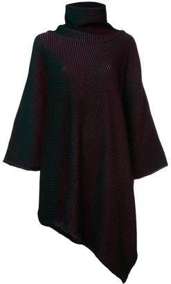 Issey Miyake knitted roll neck dress