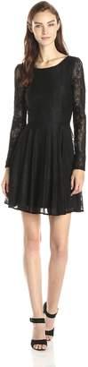 Minuet Women's 3/4 Lace A Line Dress