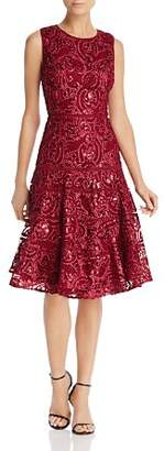Carmen Marc Valvo Sequin Soutache Dress
