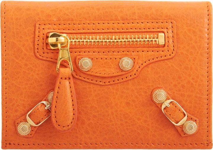 Balenciaga Arena Giant Double Card Case-Orange