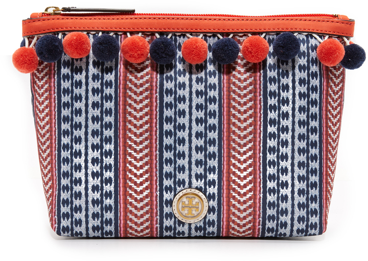 Tory Burch Tory Burch Pom Pom Cosmetic Case
