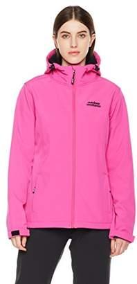 Outdoor Ventures Women Lara Windproof Front-Zip Hooded Softshell Jacket