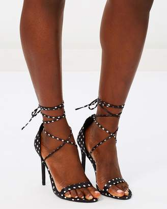 Missguided Polka Dot Barely There Heels