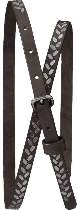 Women's Skinny Studded Belts