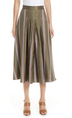 Roksanda Tahki Stripe Silk Skirt