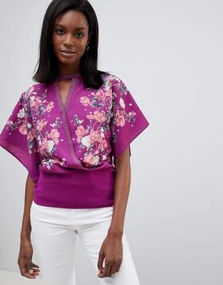 Oasis Kimono Floral Wrap Top