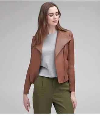 Andrew Marc Felix Asymmetrical Leather Jacket