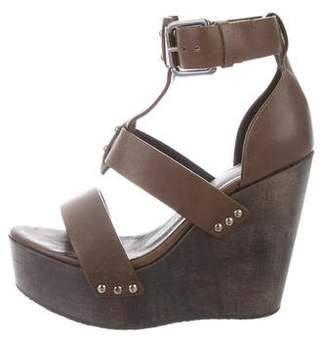 AllSaints Leather Wedge Sandals