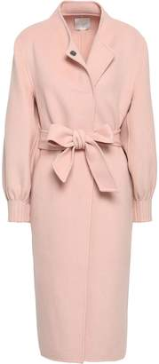 Joie Belted Wool-blend Felt Coat