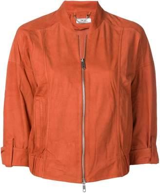 Desa 1972 cropped sleeve bomber jacket