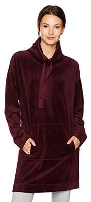 Max Studio MAXSTUDIO Women's Velour Pull Over With Kangaroo Pocket