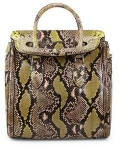 Alexander McQueen Snakeskin Leather Top Handle Bag