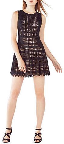 BCBGMAXAZRIABcbgmaxazria Katherina Grid Lace Dress