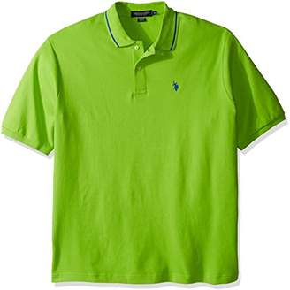 U.S. Polo Assn. Men's Big and Tall Slim Fit Short Sleeve Solid Interlock Polo Shirt