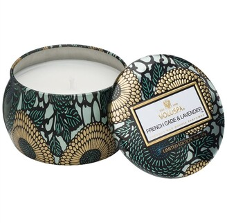 Voluspa Petite Decorative Tin Candle - French Cade & Lavender