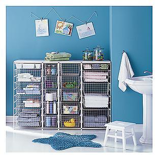 Elfa Kids' Bathroom White