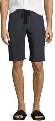 Vince Hemp Raw-Hem Track Shorts