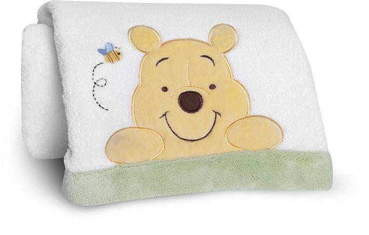 Kids Line Disney Baby Peeking Pooh and Friends Embroidered Boa Blanket