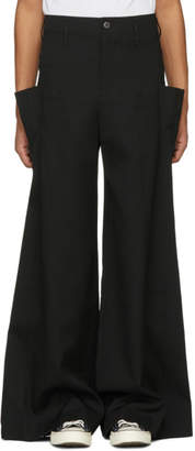J.W.Anderson Black Oversized Side Pocket Trousers