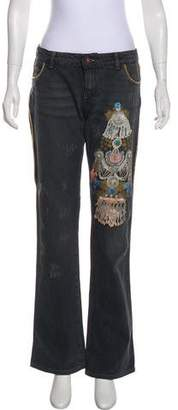 Just Cavalli Mid-Rise Straight Jeans