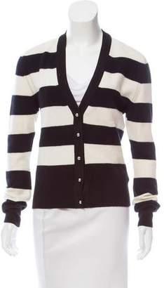 Bouchra Jarrar Striped Wool Cardigan