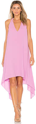 BCBGMAXAZRIA Drape Back Dress in Mauve $198 thestylecure.com