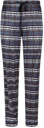 Meng Printed Silk Lounge Trousers
