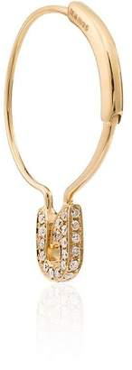Leon Yvonne Epingle grey diamond hoop earring