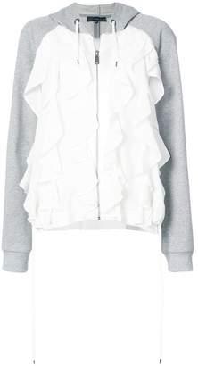 Barbara Bui ruffle front hoodie