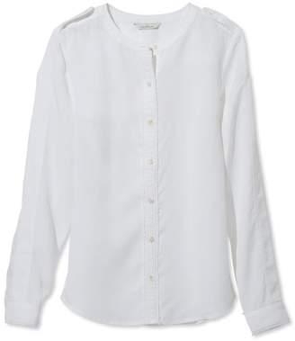 L.L. Bean L.L.Bean Signature Collarless Long-Sleeve Shirt
