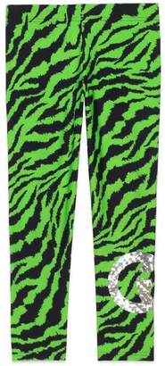 Gucci Children's fluorescent zebra print leggings