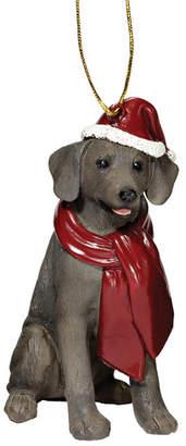 Design Toscano Weimaraner Holiday Dog Ornament Sculpture