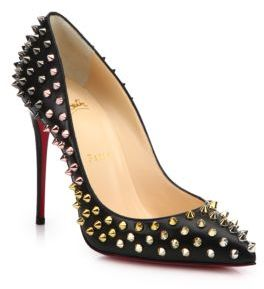 Christian Louboutin  Christian Louboutin Spiked Leather Pumps