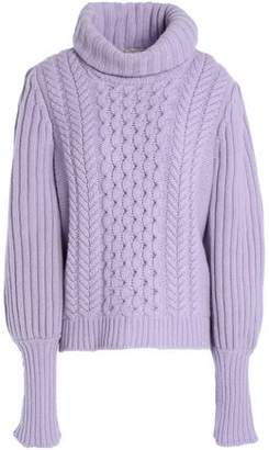 Temperley London Cable-Knit Wool Turtleneck Sweater
