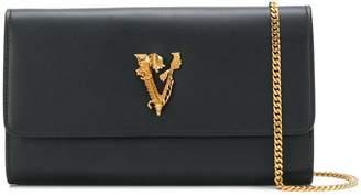 Versace embellished V clutch bag