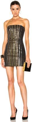 BALMAIN Strapless Sequin Mini Dress $4,880 thestylecure.com