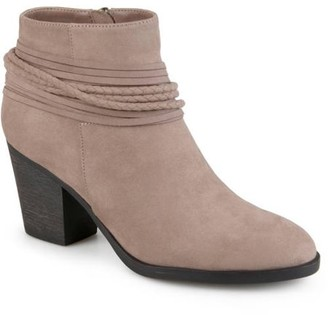 Co Brinley Women's High Heeled Strappy Chunky Heel Ankle Booties
