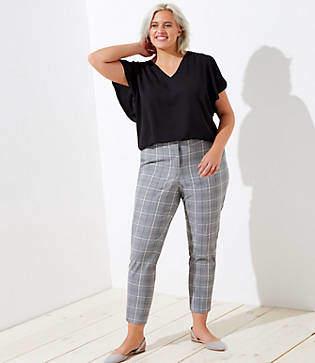 LOFT Plus Slim Pencil Pants in Plaid