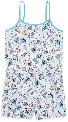 Asstd National Brand Girls Jersey One Piece Pajama Sleeveless