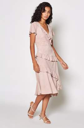 Joie Orita Suede Ruffled Dress